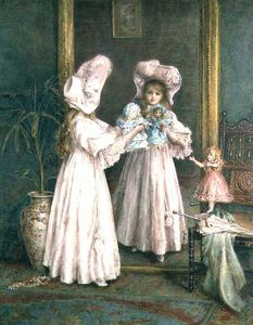 Mary L Gow - Playing With Her Dolls