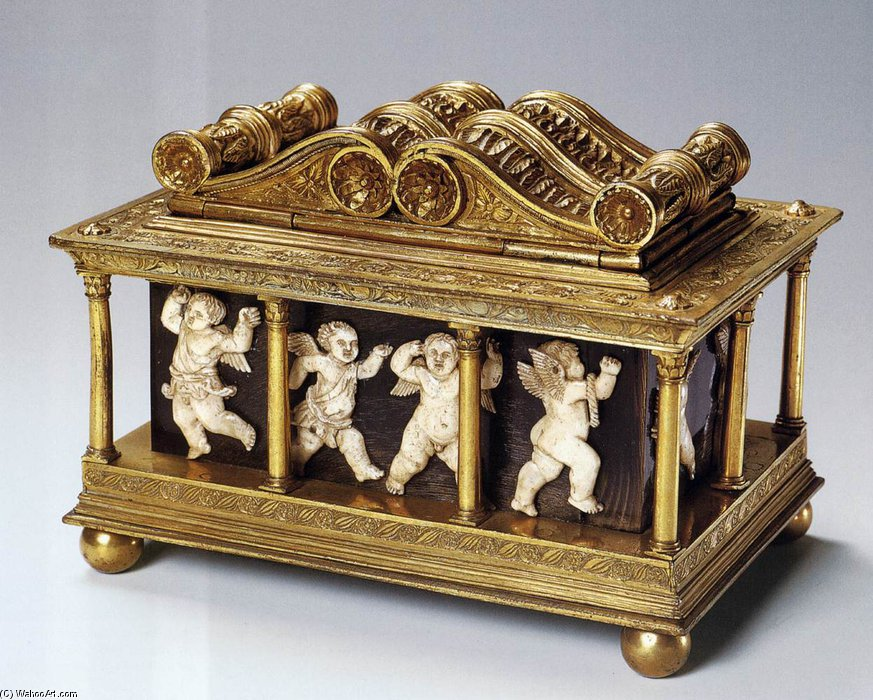 Reliquary For The Holy Girdle Of The Virgin by Maso Di Bartolommeo (1406-1456, Italy) | Art Reproductions Maso Di Bartolommeo | WahooArt.com