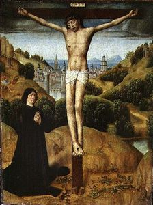 Master Of The Legend Of Saint Ursula - Christ On The Cross With A Donor