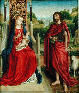Master Of The Legend Of Saint Ursula - Madonna And Child With St. John The Baptist