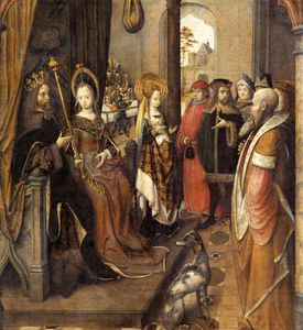Master Of The Legend Of Saint Ursula - St Ursula Announces To Her Father Her Departure On A Pilgrimage To Rome