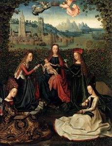 Master Of The Saint Lucy Legend - Virgin Of The Rose Garden