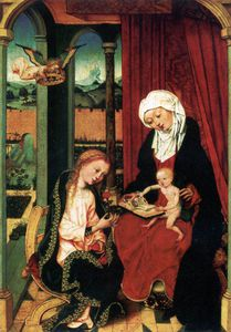 Master Of The St Bartholomew Altar - Virgin And Child With St Anne
