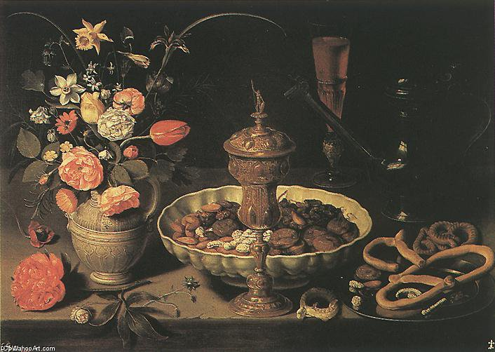 Still-life by Matthäus The Elder Merian (1593-1650, Switzerland) | Famous Paintings Reproductions | WahooArt.com