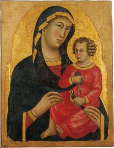 Memmo Di Filippuccio - Madonna And Christ Child