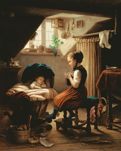 Meyer Georg Von Bremen (Johann Georg Meyer) - Tending The Little Ones