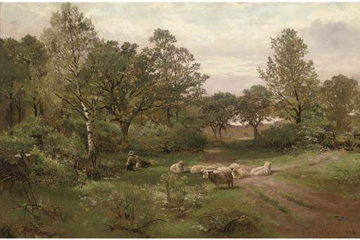A Summer Afternoon Near Tettenhall Wood by Henry Hadfield Cubley (1858-1934, United Kingdom) | Art Reproduction | WahooArt.com