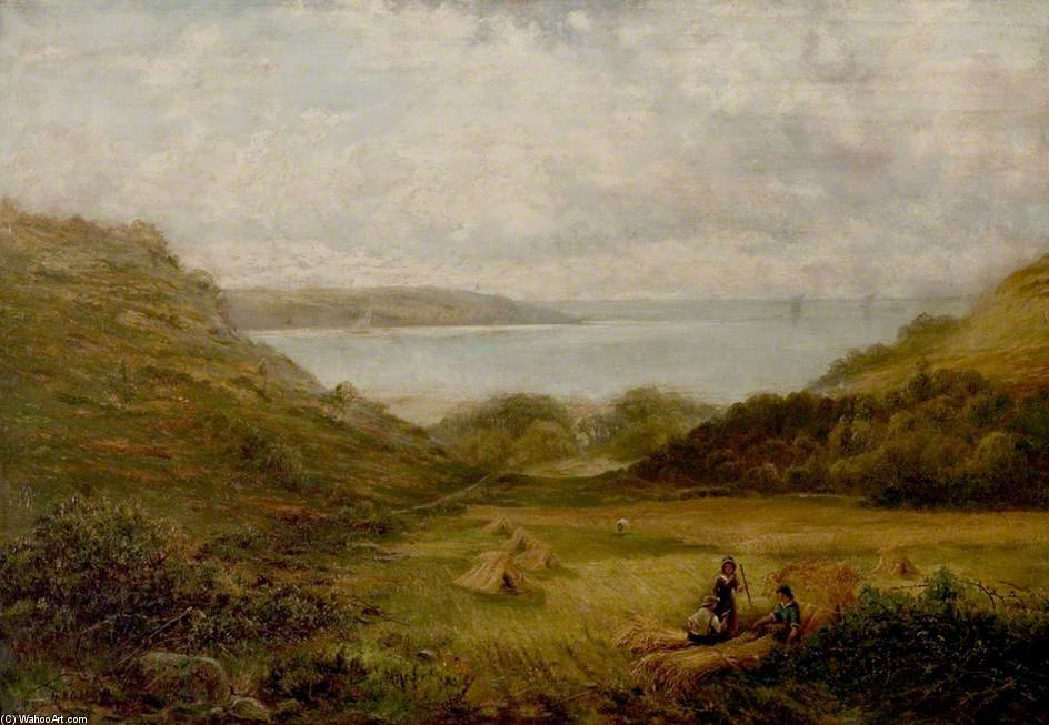 Barmouth Bay by Henry Hadfield Cubley (1858-1934, United Kingdom)