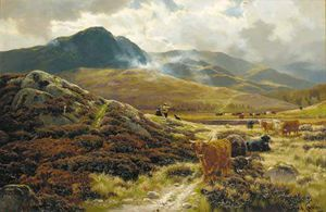 Henry Hadfield Cubley - Highland Drovers Resting