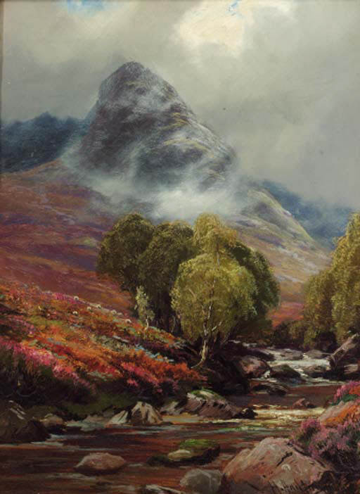 In Glen Sannox by Henry Hadfield Cubley (1858-1934, United Kingdom) | Famous Paintings Reproductions | WahooArt.com