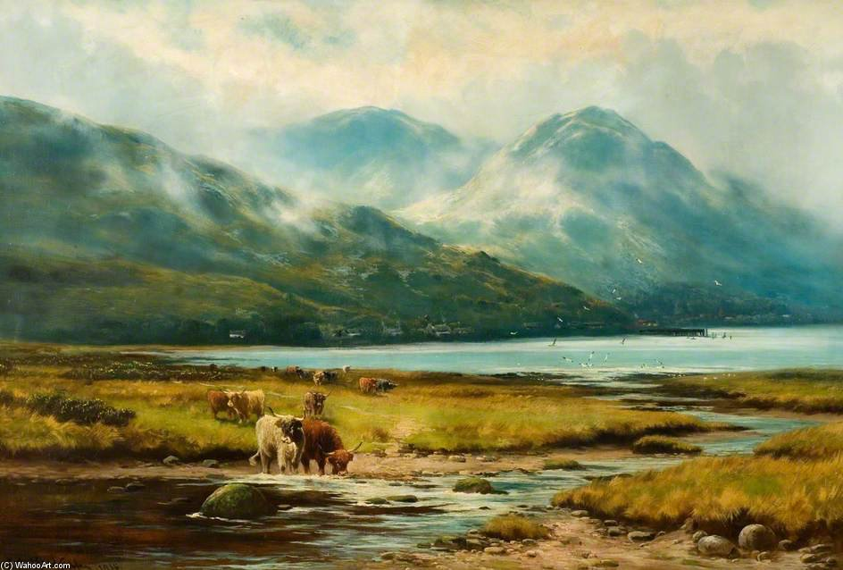 Morning Mists, Arrochar by Henry Hadfield Cubley (1858-1934, United Kingdom) | Museum Quality Reproductions | WahooArt.com