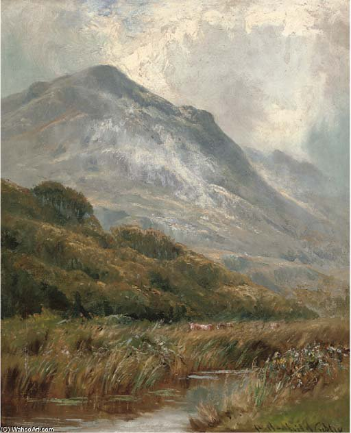 Order Art Reproduction : Morning Mists, Barmouth by Henry Hadfield Cubley (1858-1934, United Kingdom) | WahooArt.com