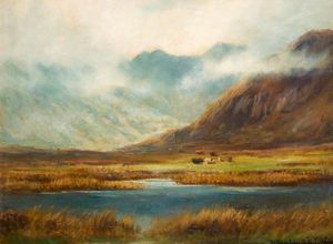 Henry Hadfield Cubley - Mountain And Lake