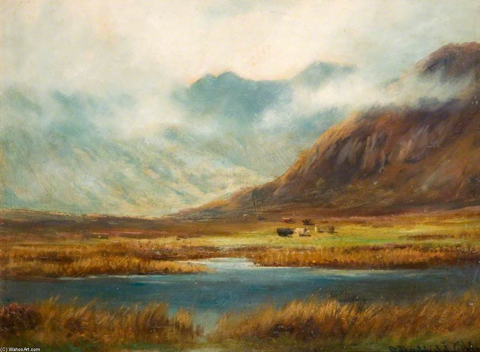 Order Oil Painting : Mountain And Lake by Henry Hadfield Cubley (1858-1934, United Kingdom) | WahooArt.com