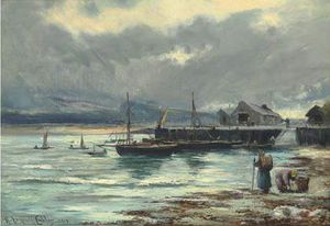 Henry Hadfield Cubley - The Harbour Barmouth