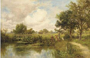 Henry Hillier Parker - A Fishing Party