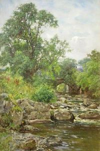 Order Art Reproduction : A Trout Stream Near Chagford by Henry John Yeend King (1855-1924, United Kingdom) | WahooArt.com