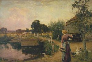Henry John Yeend King - Milking Time