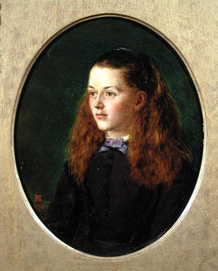 Portrait Of Fanny Frith by Henry Nelson O'neil (1817-1880, Russia)