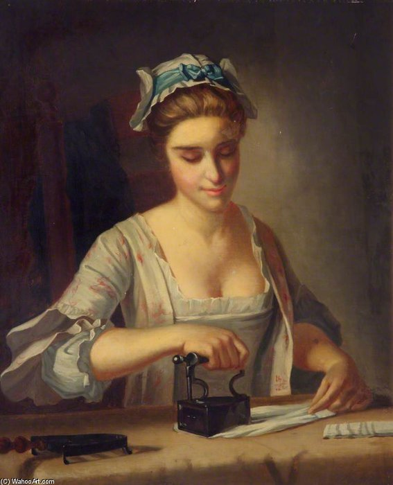 Domestic Employment by Henry Robert Morland (1716-1797, United Kingdom)