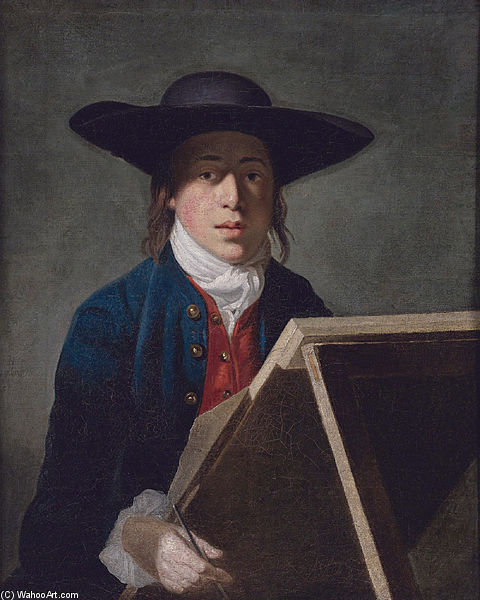 George Morland At An Easel by Henry Robert Morland (1716-1797, United Kingdom)