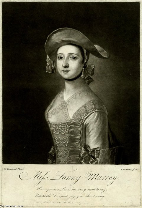 Miss Fanny Murray by Henry Robert Morland (1716-1797, United Kingdom)