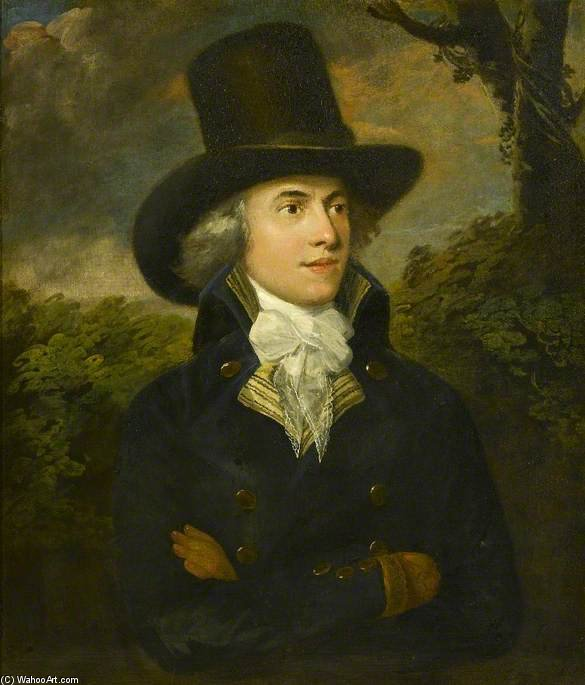 Portrait Of A Gentleman by Henry Robert Morland (1716-1797, United Kingdom)