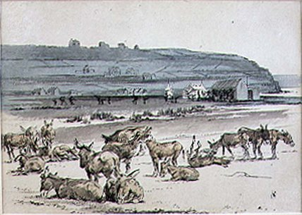 Donkeys On The Golf Course by Henry Sandercock (1838-1887, United Kingdom)