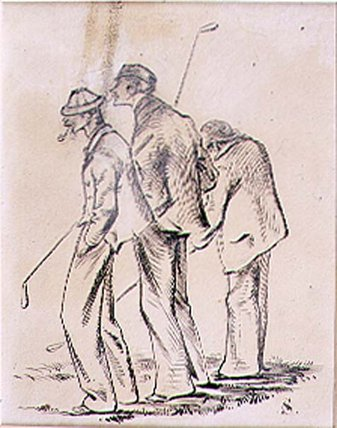 The Lethargic Golfers by Henry Sandercock (1838-1887, United Kingdom)