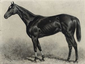 Buy Museum Art Reproductions | Dr Rice, Winner Of The Brooklyn Handicap Gravesand, 1894 by Henry Stull (1851-1913, Canada) | WahooArt.com