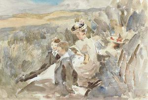Henry Tonks - Resting Among The Sand Hills