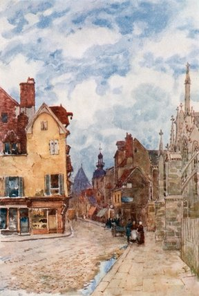 A Street In Troyes by Herbert Menzies Marshall (1841-1913, United Kingdom)