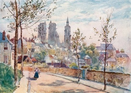 Laon From The Boulevards by Herbert Menzies Marshall (1841-1913, United Kingdom) | Museum Quality Reproductions | WahooArt.com