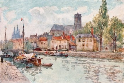 Soissons by Herbert Menzies Marshall (1841-1913, United Kingdom)