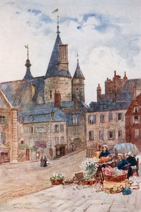 The Hotel-de-ville, Nevers by Herbert Menzies Marshall (1841-1913, United Kingdom)