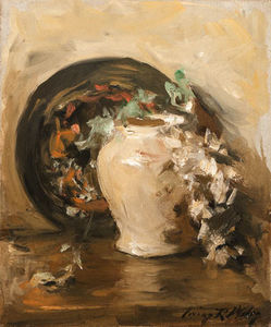 Irving Ramsey Wiles - Still Life With Vase And Plate