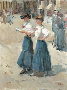 Isaac Lazarus Israels - Midinettes On The Place Vendome, Paris