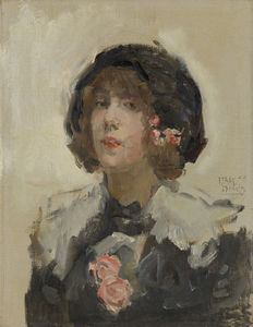 Isaac Lazarus Israels - Portrait Of A Woman