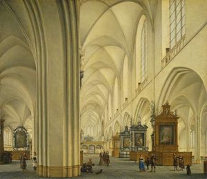 Isaak Nickelen - Interior Of Antwerp Cathedral