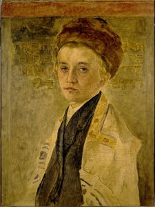 Isidor Kaufmann - Portrait Of A Jewish Boy