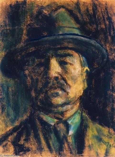 Hatted Self-portrait by Istvan Nagy (1873-1937, Romania) | Museum Quality Reproductions | WahooArt.com