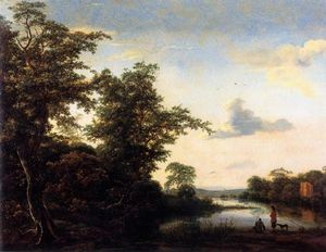 Jacob Isaakszoon Van Ruisdael (Ruysdael) - Landscape At Morning Atmosphere