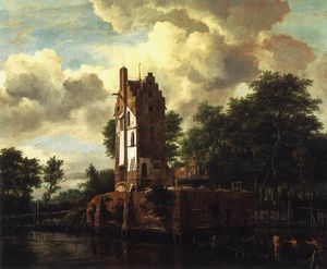 Jacob Isaakszoon Van Ruisdael (Ruysdael) - The Ruin Of The Huis Food Lost At The Amstel Near Amsterdam