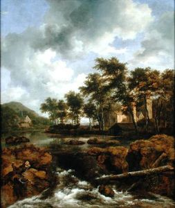 Jacob Isaakszoon Van Ruisdael (Ruysdael) - Wooded River Landscape