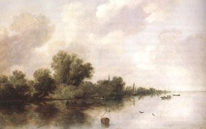 Jacob Salomonsz Ruysdael - River Scene