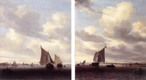 Jacob Salomonsz Ruysdael - Seascapes With Sailing Boat