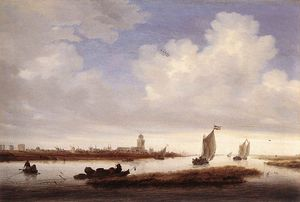 Jacob Salomonsz Ruysdael - View Of Deventer Seen From The North-west