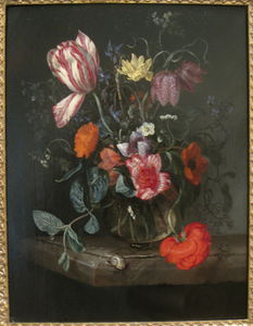Jacob Van Walscapelle - Flowers In A Vase