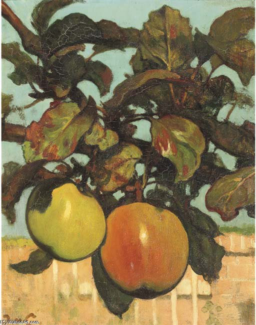 Apples by Jacobus Van Looy (1855-1930, Netherlands)