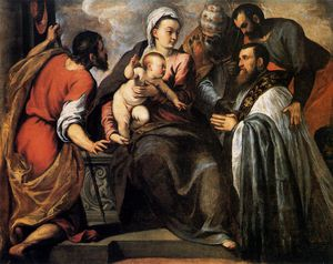Palma Giovane - Virgin And Child With Saints